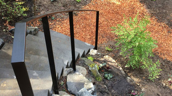 Outdoor metal railing