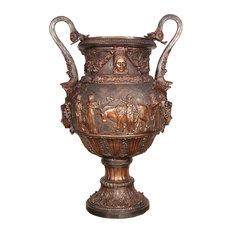 "Roman Greco Bronze 45"" Decorative Urn"