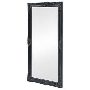vidaXL Baroque Style Wall Mirror, Black, 120x60 cm