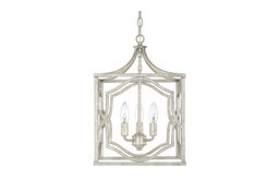 Capital Lighting 9481AG Blakely 3-Light Foyer, Antique Silver