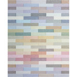Company C - Illusion Rug, 8x10 - Stacked bricks of soft color build a stunning design of wavy pinstriped blocks rendered in dozens of muted shades and subtly defined by a three-dimensional effect. Handwoven of 100% wool.