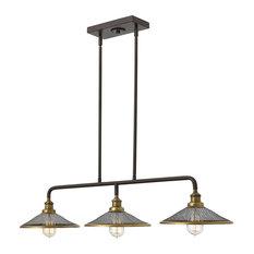 Hinkley Lighting - 3-Light Island Chandelier, Buckeye Bronze - Kitchen Island Lighting