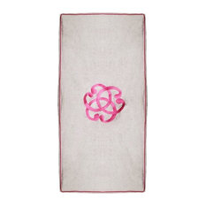 Serenity Beach Towel, White and Pink