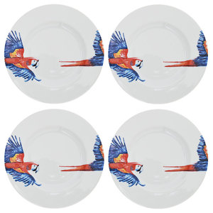 Parrot Side Plates, Set of 4