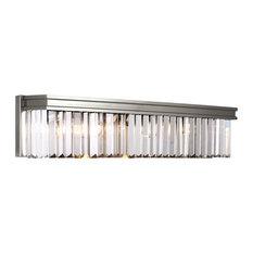 Sea Gull Lighting 4-Light Bath, Brushed Nickel
