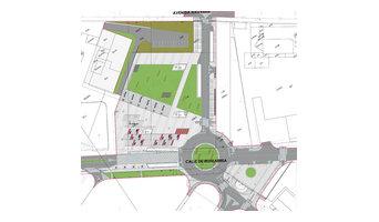 Diseño urbano parking Hospitales de Pamplona