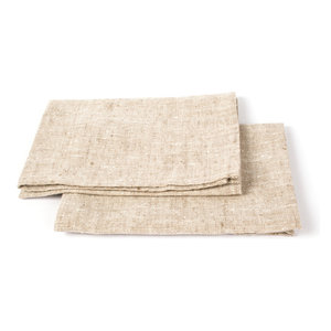 MUD PIE OATMEAL LINEN FRENCH KNOT EMBROIDERED MENORAH GUEST HAND TOWEL