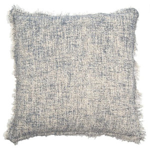 A.U. Maison Square Boucle Cushion Cover, Jeans Blue