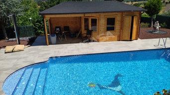 Casa de madera para zona de piscina