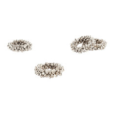 Petite Bell Copper Napkin Rings, Set of 4, Silver
