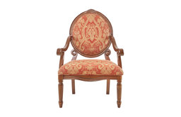 Madison Park Brentwood Oval Back Exposed Wood Arm Chair, Red