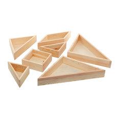 7-Piece Tangram Tray Set, Beige