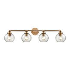Astoria 4-Light Vanity Light, Satin Gold
