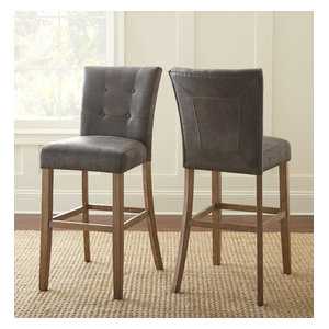 Steve Silver Debby Bar Chair, Gray, Set of 2