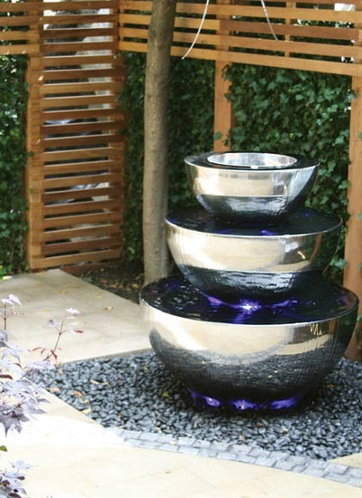 Contemporary Outdoor Fountains And Ponds by David Harber