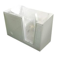 MediTub Walk-In 30 x 54 Right Drain White Whirlpool & Air Jetted Walk-In Bathtub
