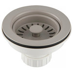 Kraus USA - Kraus Kitchen Sink Strainer, Truffle - Kraus kitchen accessories provide everyday efficiency with style. Designed to keep your drainpipe clear, the Kraus color kitchen sink strainer is a perfect finishing touch for your sink. Made of durable ABS plastic, the strainer is removable for easy cleaning, and allows water to flow freely while trapping food particles and debris. Available in multiple colors to match your kitchen sink and complement your decor.