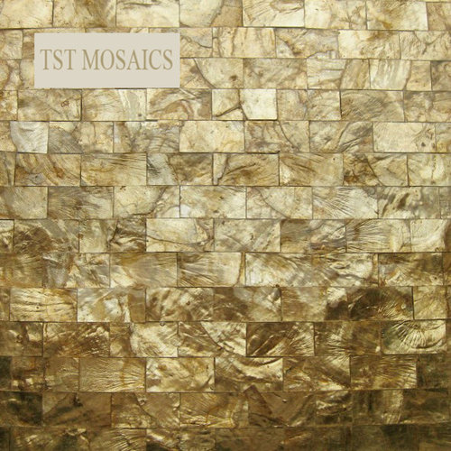 Gold Mirror Mother Of Pearl Tiles Golden Shell Mosaic Tile
