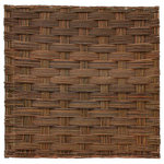 """Master Garden Products - Braided Willow Fence Panel, 72""""Wx72""""H, Set of 2 Pieces - These hand braided willow fence panels are rustic in style. Nail or tie them to any posts and you've got yourself a beautiful display willow fences in no time. Light weight and inexpensive, these willow fences will set your home and garden apart from everyone else. The reddish brown color of the natural willow will blend right into your garden setting. Use them to build up a fence or to divide a section of your home or garden. Fencing has never been this easy! Fully pre-built panel with galvanized nails. Panels can be installed vertically or horizontally for different pattern display. 72""""H x 72""""W Sold in a set of 2 pieces."""