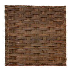 """Braided Willow Fence Panel, 72""""Wx72""""H, Set of 2 Pieces"""