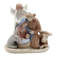 Mini Angel With Holy Family Figurine
