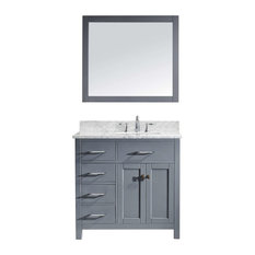"Caroline Parkway 36"" Single Bathroom Vanity Cabinet Set, Gray"