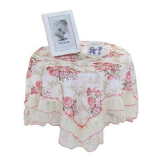 High-quality Flowers Pattern Tablecloth/ Decorative Table Cloth Lace Covers,43""