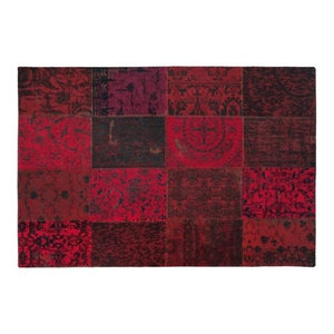 Vintage Red Rectangular Rug, 170x240cm