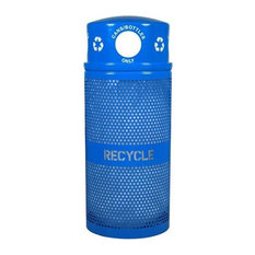 Perforated Recycling Receptacle With Dome Top