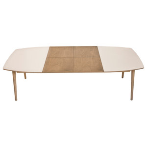 NAM-NAM Extendable Dining Table, Pebble Grey, Medium