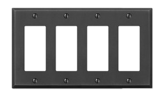 Manhattan Gun Metal Cast, 4 Rocker Wallplate