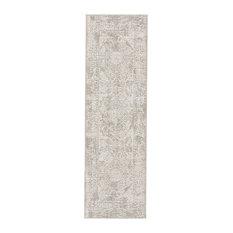 Jaipur Living Lianna Abstract Gray/White Area Rug, 3'x12' Runner