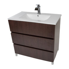 Samba 32-inch Standing Bathroom Vanity Cabinet Set With Single Sink Wenge