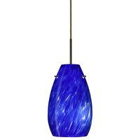 Pera 1 Light Pendant Lighting, Bronze, LED