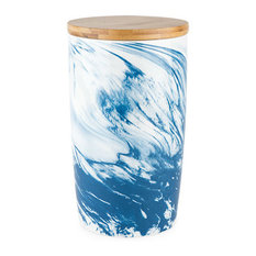 Medium Marbled Ceramic Canister by Twine