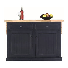 "Eagle Furniture 53"" Coastal Kitchen Island, Midnight Blue"