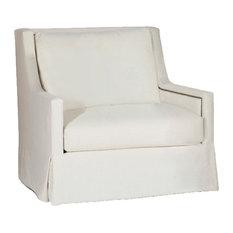 Gabby Helena High Back Swivel Chair, Gray Zulu Feather
