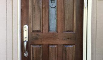 Walnut exterior front door