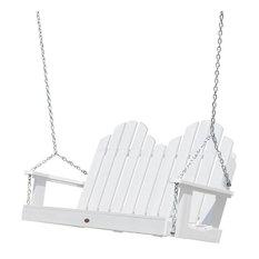 Classic Westport Porch Swing 4', White