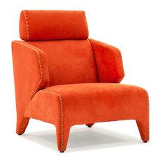 Python Orange Lounge Chair