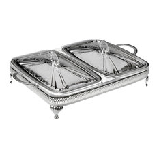 Largo Silver-Plated Double Casserole Dishes