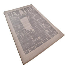 Happy New York Rug, Brown, 133x180 cm