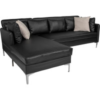 Back Bay Upholstered Accent Pillow Back Sectional with Left Side Facing Chaise