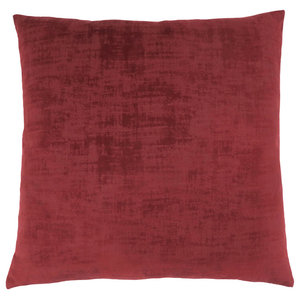 "18""x18"" Pillow, Red Brushed Velvet, 1-Piece"