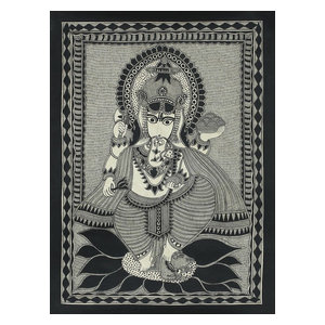 Ganesha's Feast Madhubani Painting