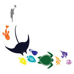 Sea Life Collection Wall Decal - Ideal for homes, kids rooms, and schools.