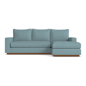Harper Reversible Chaise Sofa, Cloud Velvet