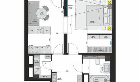 Поиск планировки: 46 кв.м с кухонным островом [6 вариантов]