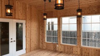 "Richmond screened porch with ""Weatherwall"" windows"