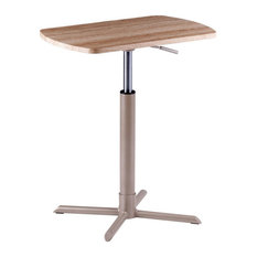 Winsome Malyn Height Adjustable Solid Wood Top End Table In Reclaimed Wood